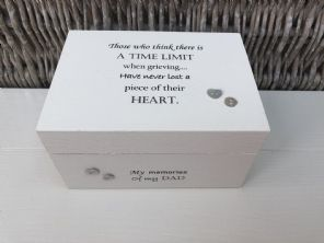 Personalised In Memory Of Box Loved One ~ DAD ~ FATHER any Name Bereavement Loss - 332626232359